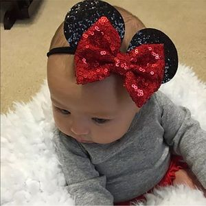 Other - Minnie Mouse sequined baby/girl headband red/black